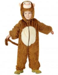 Süsser Affe Kinderkostüm Äffchen braun-beige