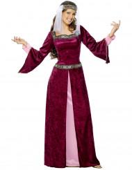 Burgfräulein Kostüm lila-rosa