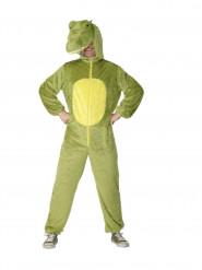 Krokodil Jumpsuit-Kostüm Echse unisex grün