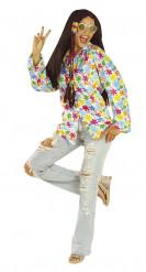 Hippie Hemd weiss-bunt