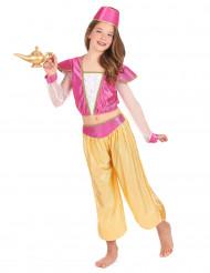 Orientalische Prinzessin Kostüm für Kinder pink-gelb