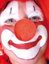Clownsnase Kostümzubehör rot