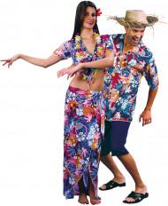 Paarkostüm Hawaii-Urlauber - bunt