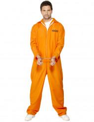 Psycho Gefangener Ausbrecher Kostüm orange