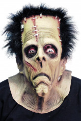 Monster-Maske Halloween-Maske Ungeheuer grün-schwarz-rot
