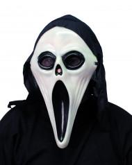 Halloweenmaske Mörder für Herren schwarz-weiss