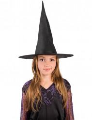 Hexenhut für Kinder Hexen Zubehör schwarz 17,5cm