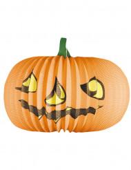 Kürbis-Lampion Halloween-Deko orange-grün 36cm
