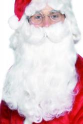 Weihnachtsmann Bart Deluxe Kostümzubehör weiss