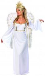 Engel Damenkostüm Weihnachten weiss-gold