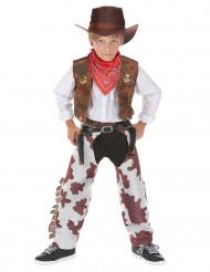 Kleiner Cowboy Kinderkostüm Wilder Westen braun-weiss