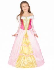 Märchenprinzessinkleid für Mädchen rosa-gold