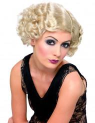 20er Can Can Locken Kurzhaarperücke blond