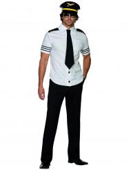 Pilot Kostüm weiss-schwarz