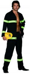 Feuerwehrmann Kostüm blau-gelb