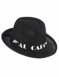Gangsterhut Al Capone mit Hutband schwarz-weiss