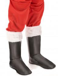 Weihnachtsmann Stiefelstulpen Kostümzubehör schwarz