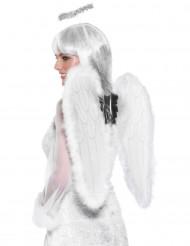 Engel Kostüm-Set Flügel und Heiligenschein weiss 53x50cm