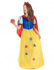 Märchen-Prinzessin Kinderkostüm Königin blau-gelb-rot