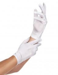 Kurze Handschuhe Kostüm-Accessoire weiss
