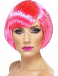 Damen Faschings-Perücke pink