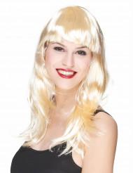 Langhaar-Perücke mit Pony blond