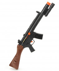 Maschinengewehr Halloween Waffe schwarz-braun