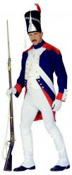Garde Offizier Kostüm Soldatenkostüm blau-weiß-rot
