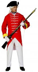 Französischer Soldat Herrenkostüm rot-weiß-gelb