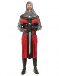 Kreuzritter Kostüm rot-schwarz-grau