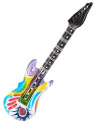 Aufblasbare Rock-Gitarre schwarz-bunt
