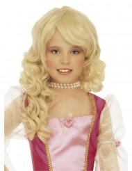 Kleine Prinzessin Langhaar-Perücke für Kinder blond