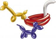 Modellier-Ballons mit Pumpe 10 Stück bunt