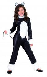 Katze Kinder-Kostüm schwarz-weiss