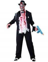 Zombie-Gangster Mafioso Halloween-Kostüm schwarz-weiss