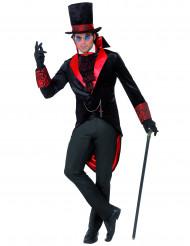 Vampir Dracula Halloween-Kostüm schwarz-rot
