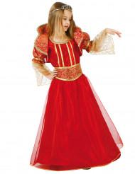 Traumhaftes Mädchenkostüm Mittelalterliche Königin rot