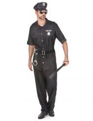 Heisser Polizist Kostüm Cop schwarz