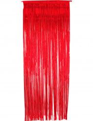 Glänzender Türvorhang Party-Deko rot 2x1m