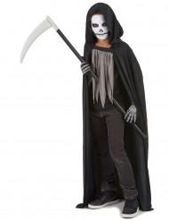 Kleiner Sensenmann-Kinderkostüm Halloween schwarz-grau