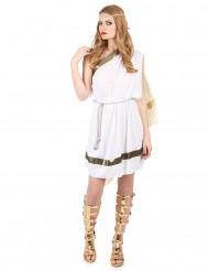 Elegante Römerin Damenkostüm Griechin Antike weiss-gold