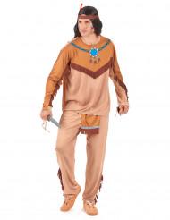 Indianer Kostüm Wilder Westen hellbraun-blau