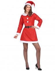 Attraktives Damenkostüm Weihnachtsfrau rot-weiß-schwarz