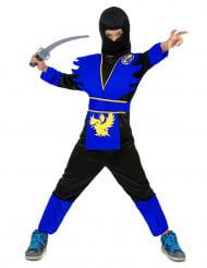 Ninja Kinderkostüm Krieger schwarz-blau