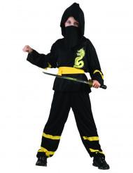 Ninja Kinderkostüm Drachen-Krieger schwarz-gelb