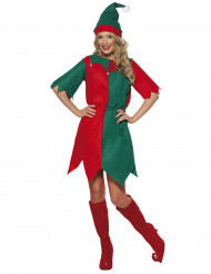Weihnachtswichtel Damenkostüm Elfe rot-grün