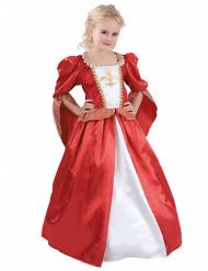Mittelalterliche Königin Kinderkostüm Prinzessin rot-weiss-gold