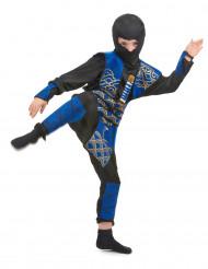 Gefährlicher Ninja Kinderkostüm Krieger schwarz-blau