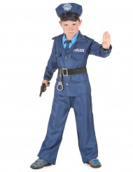 Polizist Kinderkostüm blau-schwarz