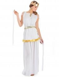 Griechische Königin Antike Damenkostüm weiss-gold